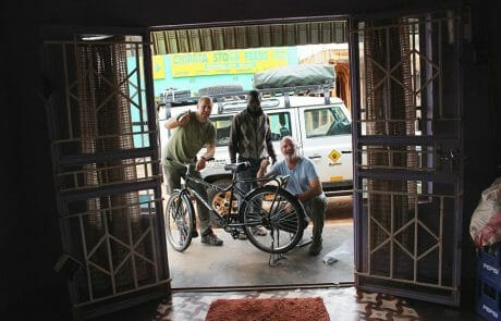 BuffaloBike purchase in Zambia for our water keeper Johanna