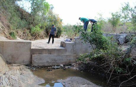 Sand dam for water storage