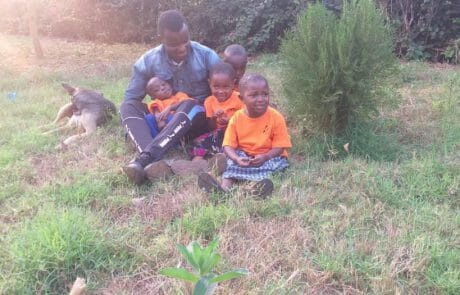 Marcel with the children